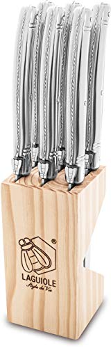 Laguiole Style de Vie Steakmesser Premium Line, 1,8mm Dicke, 6-teilig, Edelstahl