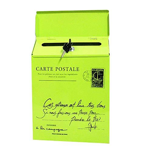 Cutogain Briefkasten mit Eisenverschluss, Briefkasten, Post, Post, Brief, Zeitungskasten, Briefkasten mit Eisenverschluss Vintage Wall Mount Mailbox Mail Postal Letter Newspaper Box