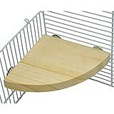 Atrumly - Piattaforma per uccelli, per uccelli e uccelli, in legno, con piattaforma per pappagalli, accessori per animali domestici per piccoli animali, ratti, criceti, fringuelli