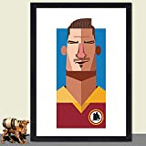 N/W Leinwand Plakat Sport Fußballstar Plakat Club Gemälde