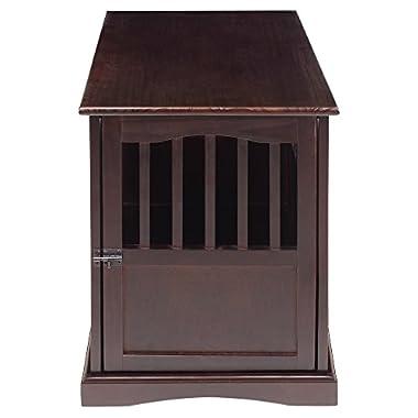 Casual Home 600-24 Pet Crate, Espresso, 27 Inch