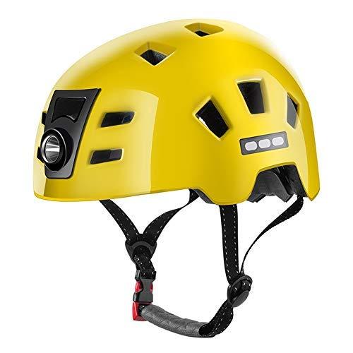 Casco de bicicleta, moldeado integralmente moto Faro Casco de Ciclista Hombres Mujeres...