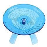 UEETEK - Disco giratorio silencioso antideslizante para hámsters erizos, mascotas pequeñas, rueda...