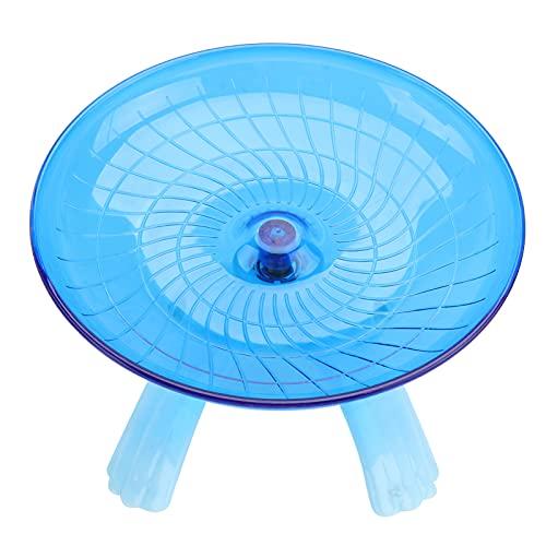 UEETEK - Disco giratorio silencioso antideslizante para hámsters erizos, mascotas pequeñas, rueda de ejercicio (color al azar)