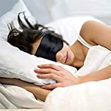 Axmon® Silk Eye Sleep Mask with Adjustable Strap, Super Soft Eye Mask, Comfortable