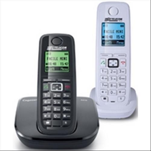 Telecom Italia Facile Mini Telefono Cordless DECT Duo, Nero/Bianco