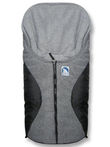 Heitmann Eisbärchen Fußsack Babyschale, Design:schwarz/grau GS