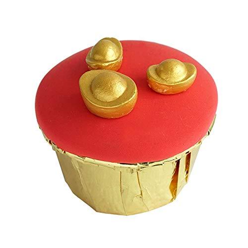 PandaLegends Estilo Chino de la Magdalena Falsa decoración de la Torta Artificial y Accesorios, Oro