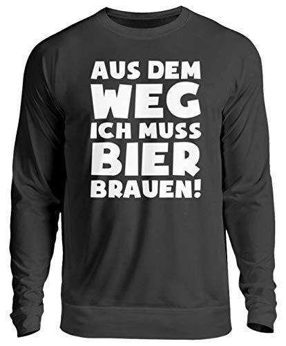 shirt-o-magic Braumeister: Muss Bier brauen! - Unisex Pullover -S-Jet Schwarz