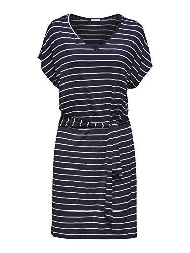 Esprit Port Beach Acc S.Dress Vestido, Azul (Navy 2 401), 38 (Talla del Fabricante: Small) para Mujer