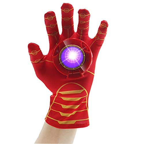 Luminous Voice Toy Glove, Family Party Cosplay in School Outdoor Games for Kids Sound and Light Device Elastic and Breathable with Gravity Sensing in a Box (Left Hand)