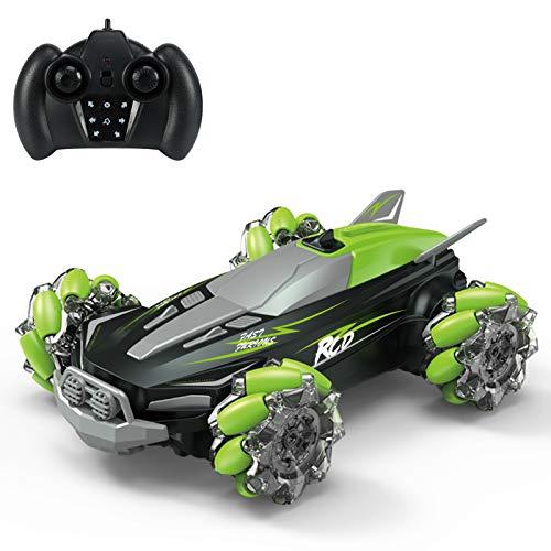 Walmeck D888 RC Stunt Car Remote Control Car 4WD para niños Niños 2.4G 360 ° Rotación Drift Car con luz LED y música RC Car Gift para niños