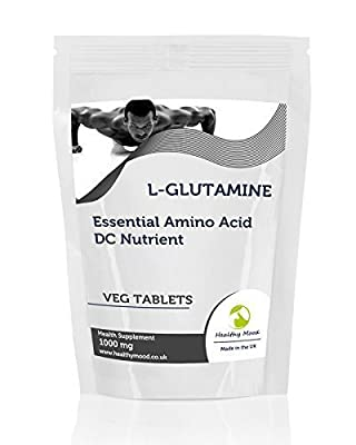 L-Glutamine 1000mg Essential Amino Acid 60Vegetarian Tablets Pills Health Food Supplements Nutrition HEALTHY MOOD by Healthy Mood
