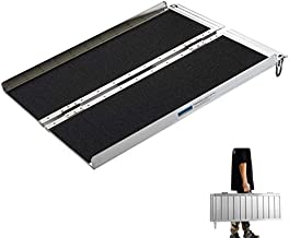 Wheelchair Ramps Extra Wide 31.3', gardhom 3FT Mobility Foldable Temporary Antislip Aluminum Loading Ramps Home for Minivan Curb Threshold