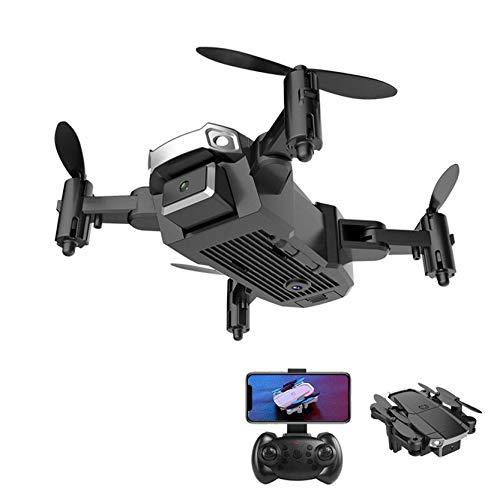 ZHCJH Drones con cámara para Adultos/niños, 480P/1080P/4K cámaras Dobles Quadcopter de fotografía aérea Plegable, Regalos para Navidad (con cámara Doble 4K, Negro)