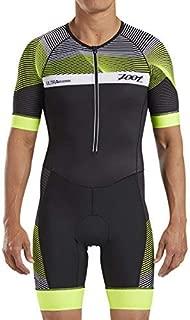 Zoot Men's Ultra Short Sleeve Aero Tri Suit - Performance Triathlon Race Suit Carbon Fabric Two Pockets