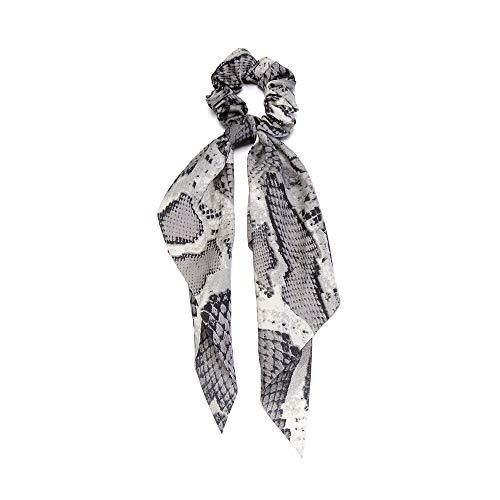 Kopfbekleidung Elastische Haarbänder Holder Pferdeschwanz Schal für Haare Schrauben Snake Leopard Print Ponytail Scarf Haarband mit Ribbon(08)