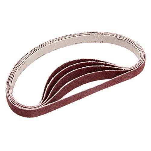 JINYIWEN Schuurband 5st 330 * 10mm Schuurpolijstschuurband 80 korrel aluminiumoxide schuurband voor haakse slijper Dremel accessoires