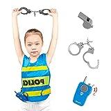 Disfraz De Policía para Niños, Vestido Realista De América, Conjunto De Policia, Niño De Policía Equipo De Policía para El Policía Swat FBI Halloween Party Dress Up