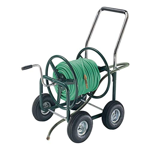 AMES 2380500 Estate 4-Wheel Steel Wagon, 400-Foot Hose Capacity
