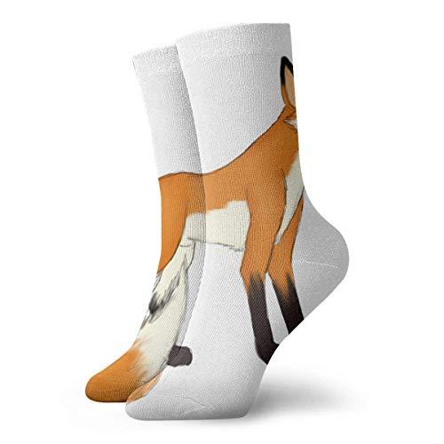 Verctor Crew Socken Süße Baby Fox Special Herren Kleid Strumpf Geschenk Socke 30CM