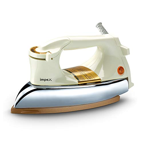 Impex IB-15 1000 Watts Heavy Weight Dry Iron Box (Cream and Golden)