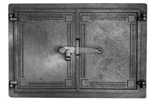 Home&Wood Backofentür Ofentür Pizzaofentür 48x33cm Gußeisen Steinofentür Das Türchen zum Ofen