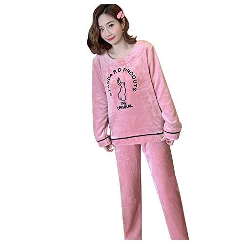 Susenstone Ensemble Pyjama Femme Hiver Chaud Pyjama Flanelle Chic Robe De Chambre Chemise De Nuit Pas Cher VêTements De Nuit