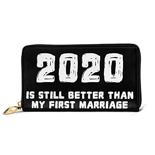 DJNGN 2020 es aún Mejor Que mi Primer Matrimonio Divertida Billetera de Cuero de Divorcio con 12 Ranuras para Tarjetas Moda y personalización