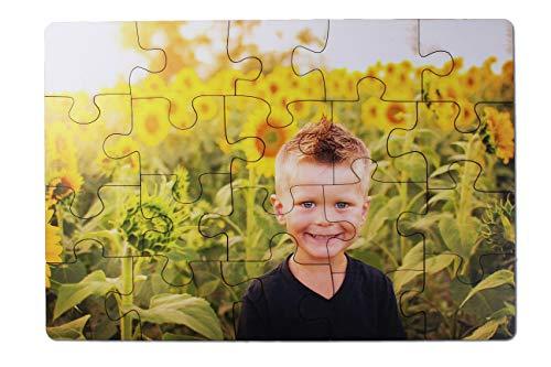 Kopieerladen fotopuzzel van hout met eigen motief zelf vormgeven, individuele houten puzzel met eigen foto's, fotogeschenk, 20 delen, 290 x 195 mm