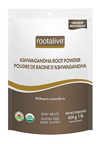 Rootalive Organic Ashwagandha Root Powder, 454g