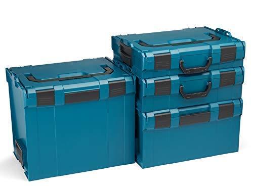 Bosch Sortimo L-Boxx Werkzeugkoffer Set | Größe 102-374 in Grün | Bosch Werkzeugkoffer Leer | Kompatibel mit L-Boxx