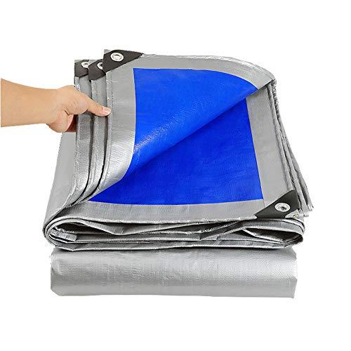 Allyine PVC Lona Impermeable, Cubierta de Lona Impermeable per Exterior con Ojetes Metálicos Reforzada Funda Protectora Espesor Lona para Protección Cubrir Muebles Jardín,5x8m/16x26ft