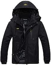 Wantdo Men's Waterproof Mountain Jacket Fleece Windproof Ski Jacket US M Black M