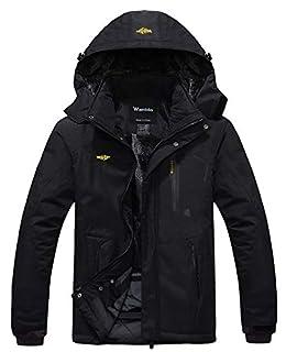 Wantdo Men's Mountain Waterproof Ski Jacket Windproof Rain Jacket Winter Warm Hooded Coat (B00NHO4WCS) | Amazon price tracker / tracking, Amazon price history charts, Amazon price watches, Amazon price drop alerts