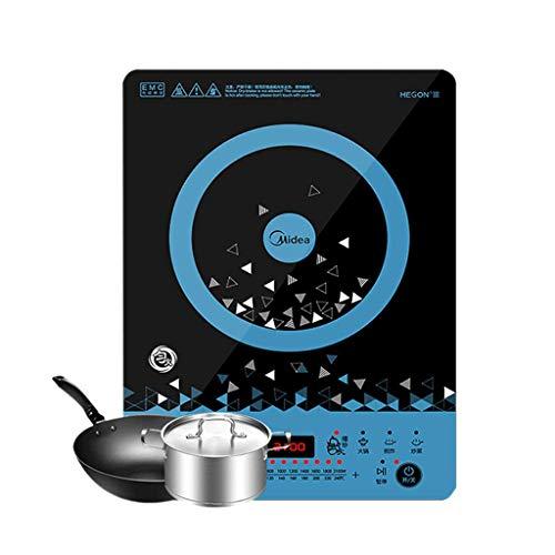 AKAMAS Cocina de inducción de Placas Calientes, Estufa portátil, eléctrica 2100W, 8 Funciones de cocción, 10 velocidades Ajustables Baibao