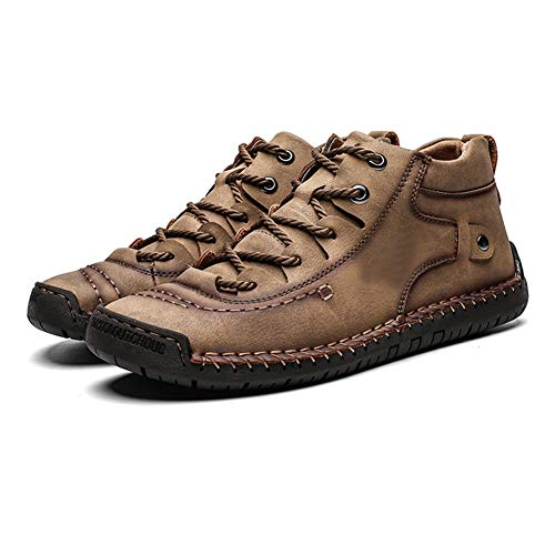 Heren Sneeuwlaarzen Warme Schoenen Anti-slip Hoge Top Sneakers Ademend voor Winter Outdoor 48 EU Khaki Cotton Inside