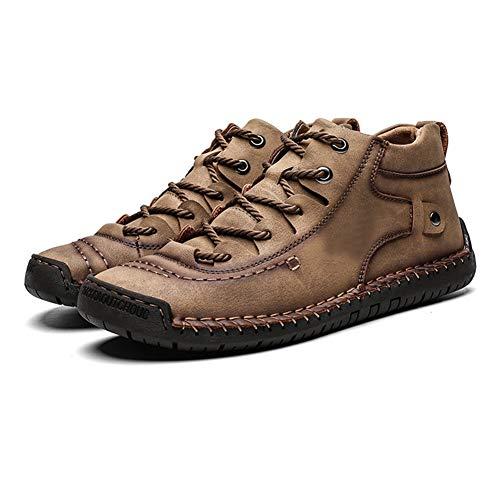 Heren Sneeuwlaarzen Warme Schoenen Anti-slip Hoge Top Sneakers Ademend voor Winter Outdoor 48 EU Khaki Cotton Inside