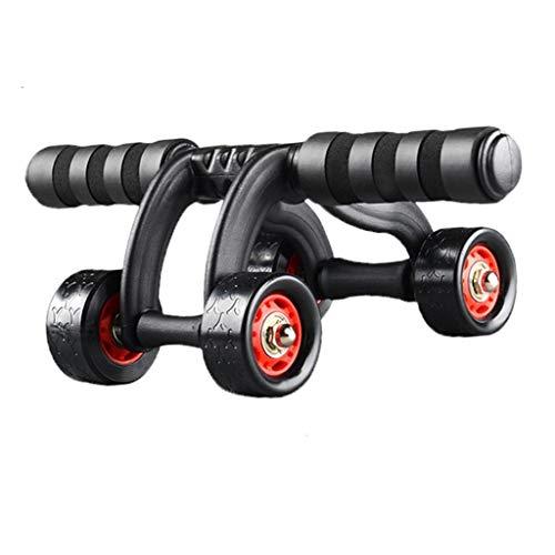 Stone Home Abdominal Fitness Weiblicher Bauch DREI-Rad/Vier-Rad Bauchmuskeltrainer Indoor Roller Heimfitnessgeräte (Size : A)