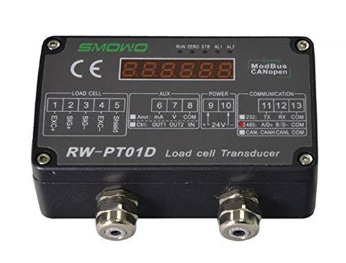 L.HPT RW-GT01A Trasduttore trasmettitore amplificatore sensore cella di carico montabile su Guida DIN (uscita segnale: 0-5 V)