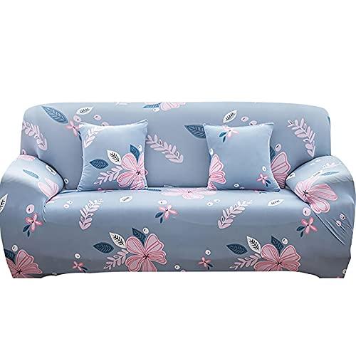 WXQY Funda de sofá elástica elástica para Sala de Estar,Funda de sillón de combinación de Esquina geométrica,Funda de sofá de protección para Mascotas A7 de 3 plazas