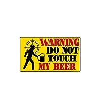 ステッカー 車 11.9cm * 6.7cm警告ビールPVC車のステッカーデカールに触れないでください ステッカー 車