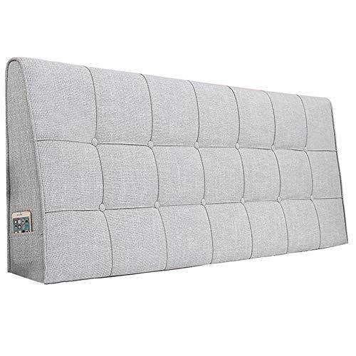 WENZHE Kopfteil Kissen Für Betten Bett Rückenkissen Rückenlehne Bettrückwand Baumwolle Und Leinen Soft Case Zuhause Schlafzimmer Taillenpolster Waschbar, 8 Farben (Color : A, Size : 150x62cm)