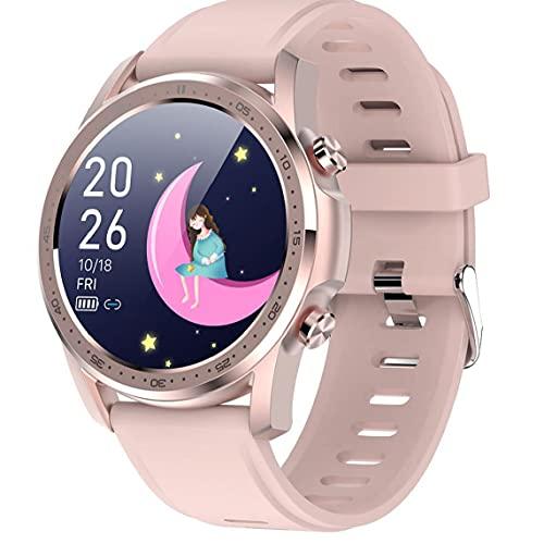 ODOUKEY-Inteligente Reloj Inteligente Reloj del Ritmo cardíaco oximetría del Reloj del Reloj del perseguidor Impermeable de la Aptitud con la Pantalla táctil Completa Compatible con Xiaomi Rosa