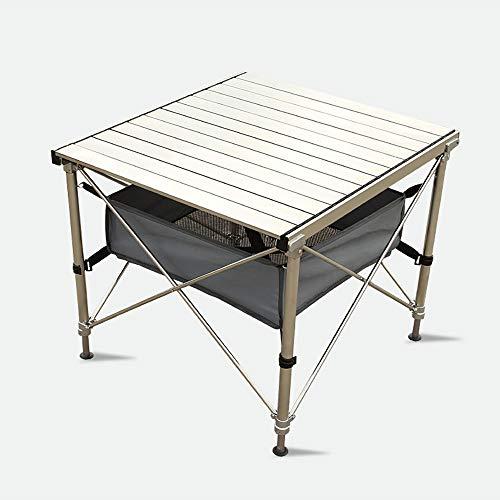 ZSLLO Ourdoor Draagbare RVS Opklapbare Tafel Aluminium Opvouwbare Tafel met een Opbergtas voor Camping Picknick Vrije tijd Zelfrijdende Barbecue Picknick klaptafel
