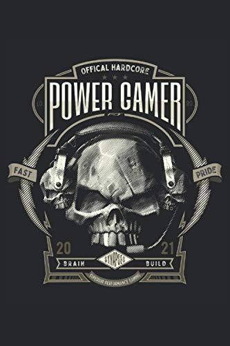 Ordinateur portable gamer pour les joueurs puissants: Format: A5 (6 x 9 pouces) • 110 pages • À carreaux • Avec numéros de page • Agenda • Cahier de ... • Cahier d'exercices • Original FD-DESIGN