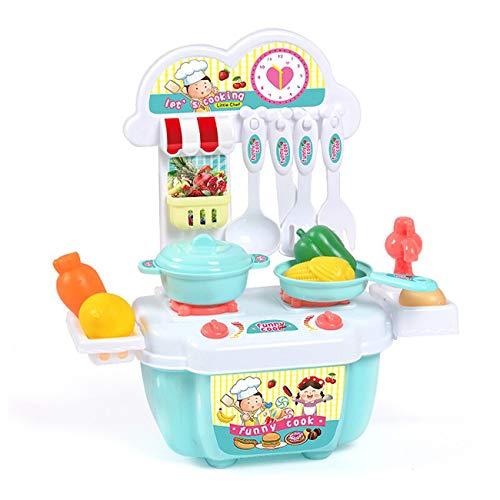 RUMUI 1 Juego de Mini juego de juguetes de cocina, rompecabezas para niños, juego de simulación de plástico, juego de mesa de cocina, juguetes, regalos para niños y niñas