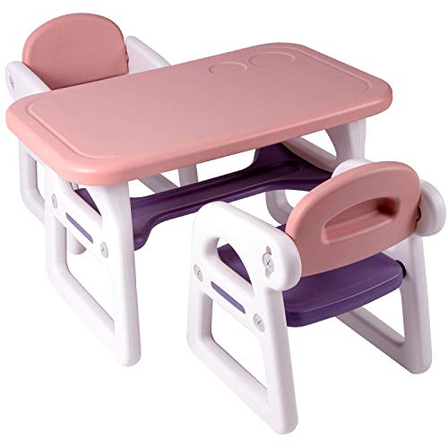 Tiny Geeks - Juego de Mesa y sillas Infantiles - Ideal para Actividades en casa - Mesa Infantil con...