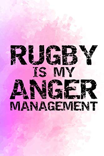 Getting Things Done Planner Funny Rugby Quote Vintage Rugby is My Anger Management