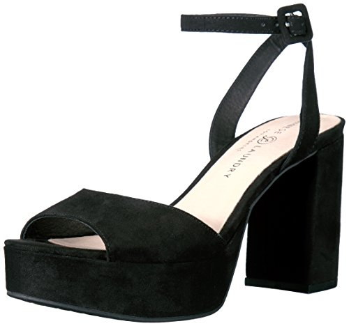 Chinese Laundry Women's Theresa Platform Dress Sandal, Black Suede, 8 M US